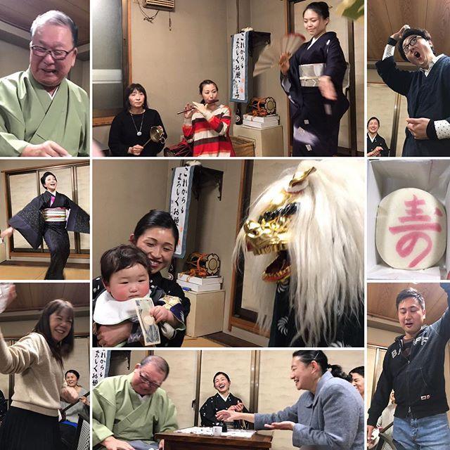 里神楽加藤社中、里神楽橘樹会、横浜芸妓組合、合同忘年会。獅子舞、舞踊、フラダンス、バンド演奏、一升餅。さらには芸者が5人になり、華やかなお座敷遊びで盛大な忘年会を行うことが出来ました。#横浜芸者 #芸者 #お座敷遊び #一升餅 #獅子舞