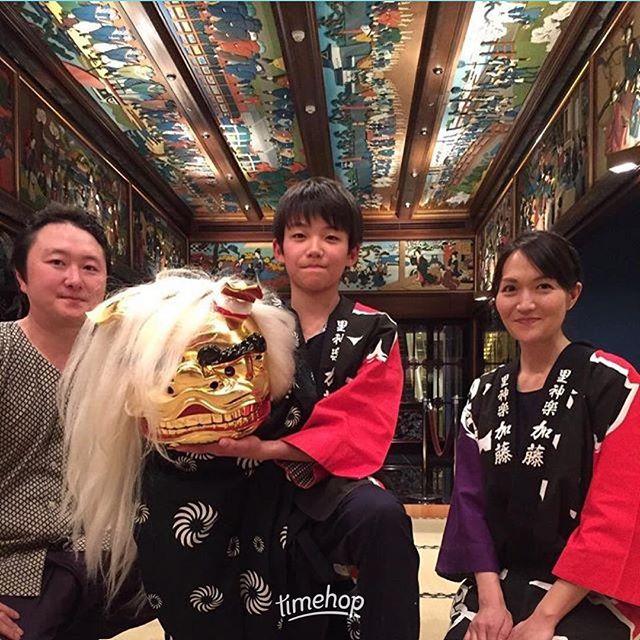 2年前の雅叙園!#獅子舞 #雅叙園