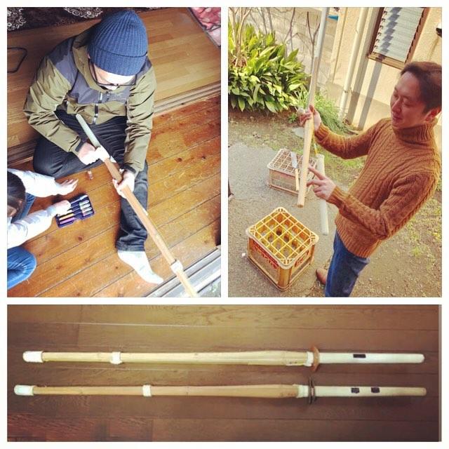 .神楽師の休日何を作っているのでしょうか#竹刀 #竹 #彫刻刀 #神楽 #神楽師