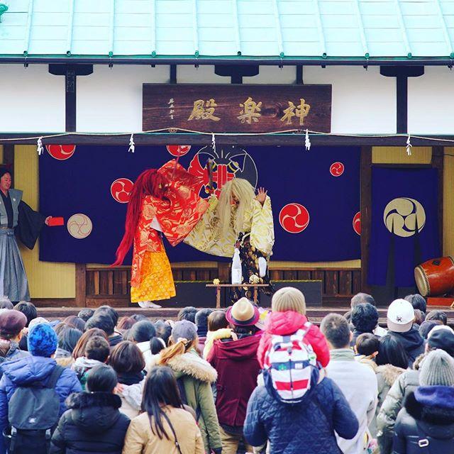 満員御礼!#神楽奉納 #日本の伝統 #里神楽  #連獅子 #石橋